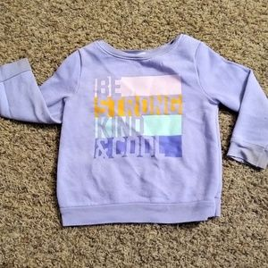 Old Navy Girl's 3T Lavender Sweat Shirt